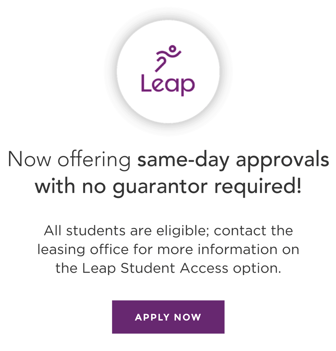 Now offering same-day approvals with no guarantor required! Apply Now.