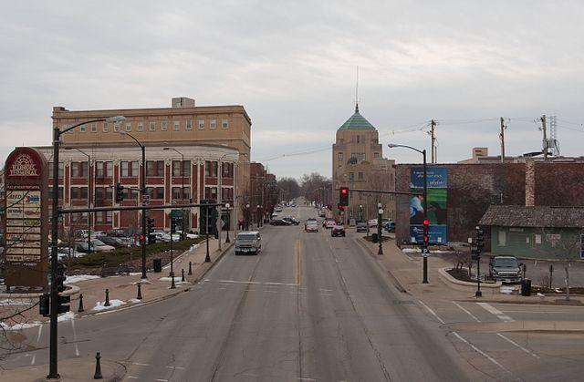 University Avenue in Champaign, IL